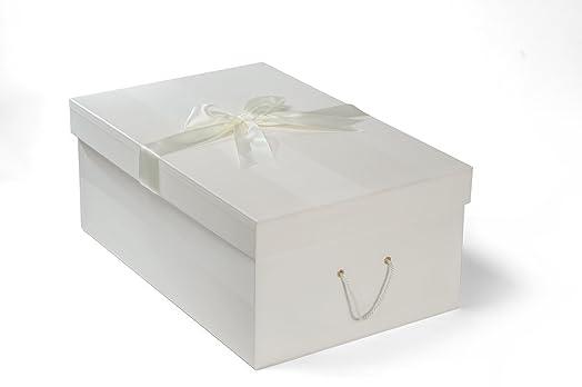 X Large Handmade WEDDING DRESS BOX CHELSEA IVORY 75cm 50cm 30 Cm
