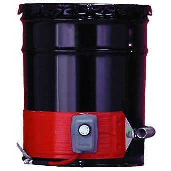 BriskHeat ECONO30-1 ECONO Metal Drum Heater, Fits 30-Gallon Drums, 2-Layer Reinforced Silicone Rubber, W x L: 3.6 x 58.5-Inch, Diameter: 18.6-Inch, 120VAC