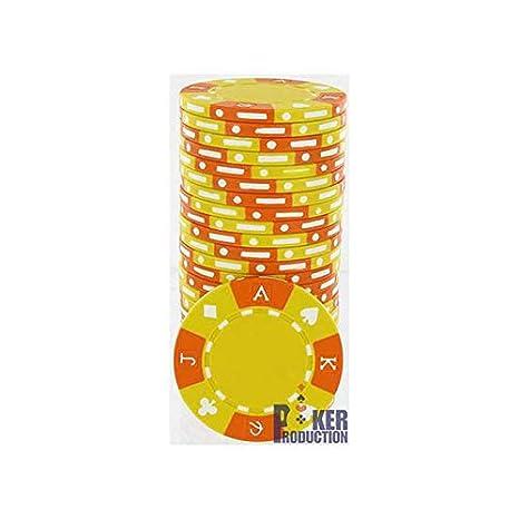 AK Jetons de Poker en Clay Composite - Rouleau de 25 jetons - 14 g