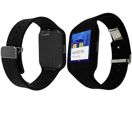 Skinomi TechSkin - Sony Smartwatch 3 Screen Protector + Brushed Steel Full Body Skin Protector / Front & Back Wrap / Premium HD Clear Film / Anti-Bubble Crystal Shield
