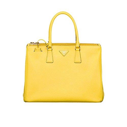 Prada Handbag Tote - Prada Women's Yellow Saffiano Lux Shopping Tote B1786T