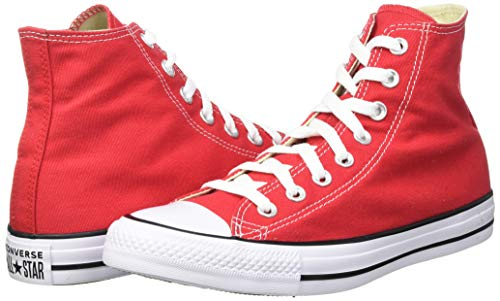 Converse Men's Chuck Taylor All Star Core Hi, Red, 6.5 us