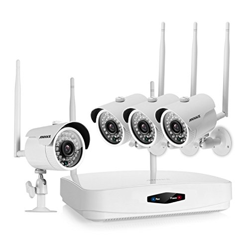 Annke 4 Channel 720p Wireless Security Camera System And