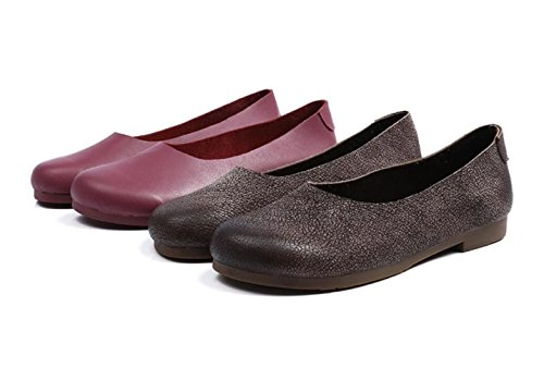 Main Chaussures Chaussures la Granny Rétro à Loisirs Ronde Red Tête Art ZFNYY fraîches Chaussures Haricots gafxnzS