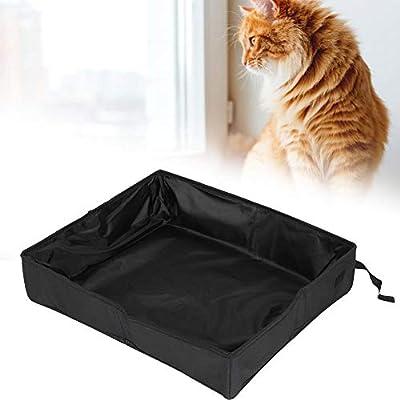 Caja de Arena para Gatos Semicerrada Plegable para Mascotas Heces ...