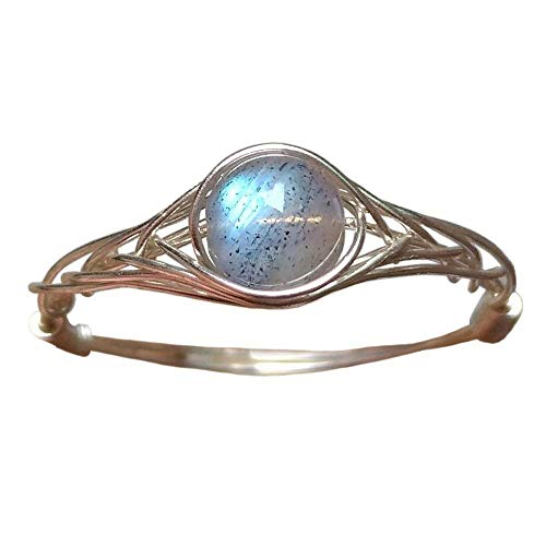 - size8 Original 925 Sterling Silver Genuine Moonstone Ring Handmade (5-12# available)