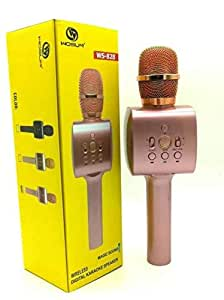 WS-828 WIRELESS BLUETOOTH KARAOKE MICROPHONE,ROSE GOLD COLOR
