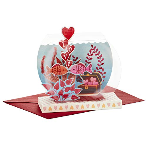 Hallmark Paper Wonder Displayable Pop Up Valentines Day Card for Significant Other (Fish Bowl Valentine)]()