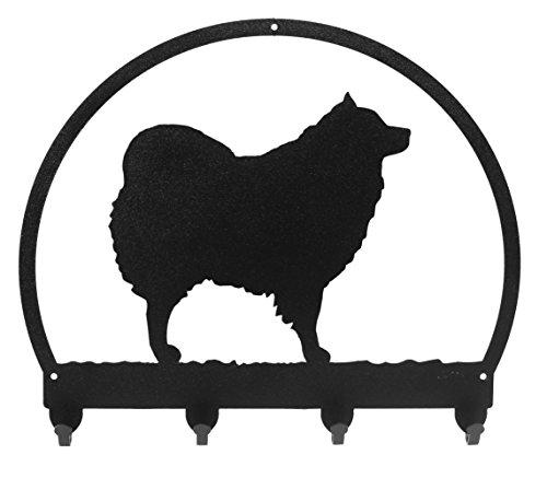(Spitz Samoyed/American Eskimo Dog Metal Key Chain Hanger - Leash Holder)