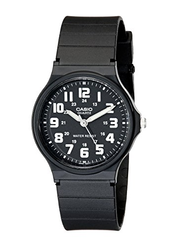 Casio Unisex MQ-71-1BCF Classic Luminous Hands Watch With Black Resin Band -