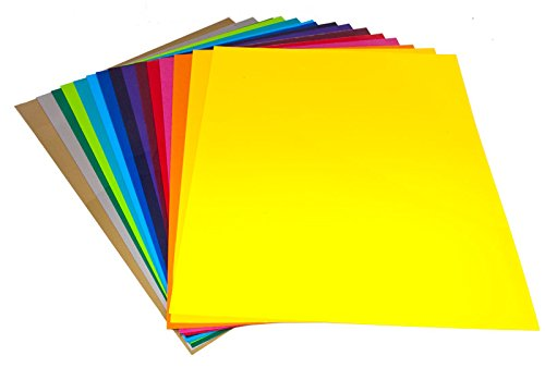 Heat Transfer Vinyl Sheets 10'' x 12'' 31 Colors Bundle Grab Bag by world-paper (Image #5)