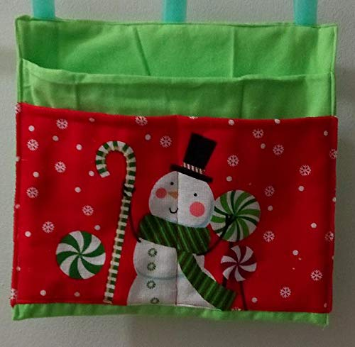Snowman Bag Pouch Storage Walker Wheelchair Stroller Grocery Cart etc. from Craft and Sewing Box