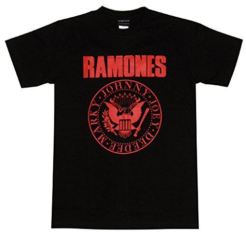 地下室ジャニス君主RAMONES/ラモーンズ/ロゴTシャツ/黒×赤/メンズ/レディース/ロックTシャツ/バンドTシャツ