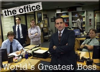 Amazoncom The Office Worlds Greatest Boss Magnet 29725tv