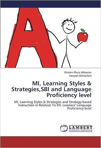 Amazon Mi Learning Styles Strategiessbi And Language
