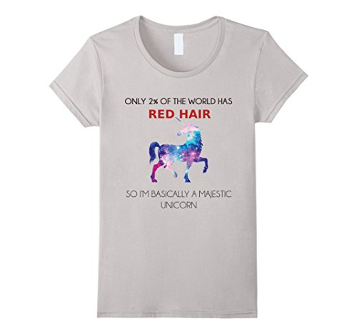 womens-redhead-tshirt-only-2-has-red-hair-im-majestic-unicorn-tee-large-silver