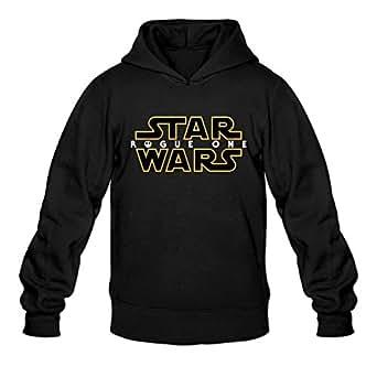ZHUYAOUDAO Custom Men's Star Wars Rogue One Logo Fleece Sweatshirt Black XXL