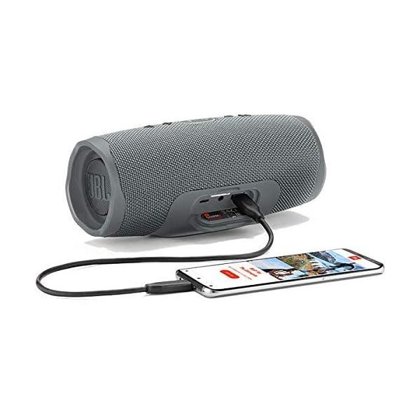 JBL Charge 4 - Enceinte Bluetooth portable avec USB - Robuste et étanche : pour piscine et plage - Son puissant - Autonomie 20 hrs - Gris 3