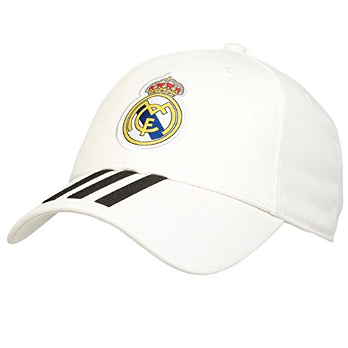 adidas Soccer Cap Real Madrid Stripes Hat White Training Ronaldo One Size CY5600