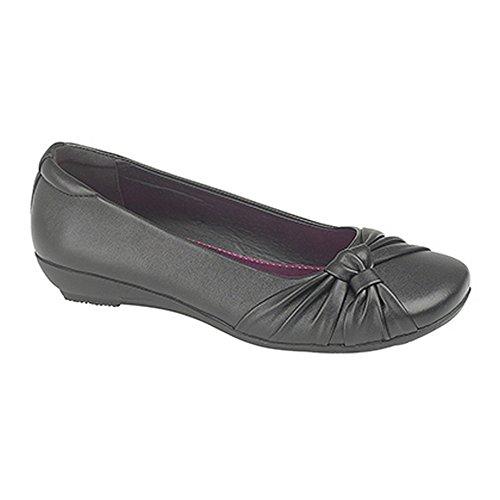 US Brass Womens/Ladies Sissi Sash Vamp Shoes Black jSrp838M