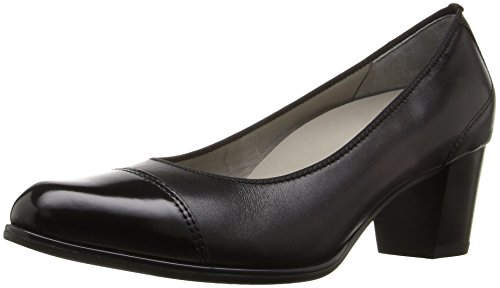 ara Women's Mckinley Dress Pump, Black Calf/Sivato Toe, 8 M US