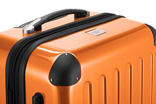 HAUPTSTADTKOFFER® 74 Liter Hartschalen Koffer · (63 x 42 x 28 cm) · Hochglanz · Zahlenschloss · ORANGE