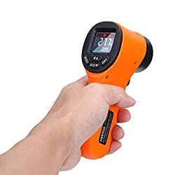 Non-Contact Digital Thermometer, Infrared Temperature Gun Tester with Laser for Precisely Aiming -58~1022°F(-50~550°C), Bright LCD Display with LED Backlight for Meat Refrigerator Pool Oven