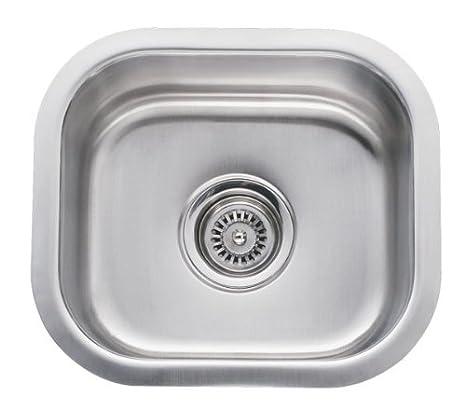 14 Inch Stainless Steel Undermount Single Bowl Kitchen / Bar / Prep Sink -  18 Gauge