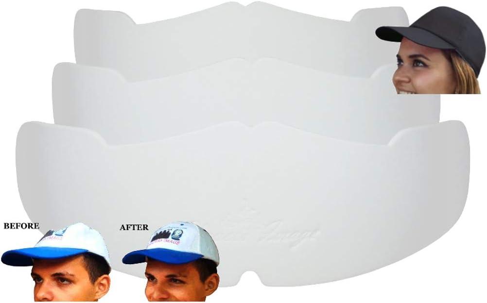 3枚入り Manta Ray 野球帽 クラウンインサート 目立たないキャップ用 フィットキャップシェイパーと帽子ライナー| New Eraクラウンサポート| ボールキャップストレージ| フレックスフィット帽子サポート| スナップバックハットシェイパー ホワイト
