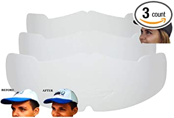 cefdd50776e Amazon.com  3Pk. White Manta Ray Baseball Caps Crown Inserts For Low ...