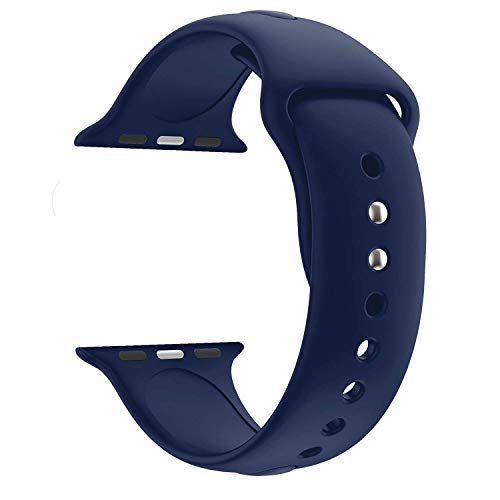 Croiky Soft Silicone Strap Compatible with iWatch 44 MM Series 4 and Series 5 - Blue (B07T4YQJMC) Amazon Price History, Amazon Price Tracker