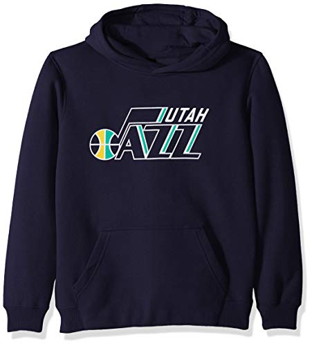 (Outerstuff NBA NBA Youth Boys Utah Jazz Primary Logo Classic Hoodie, Navy, Youth)