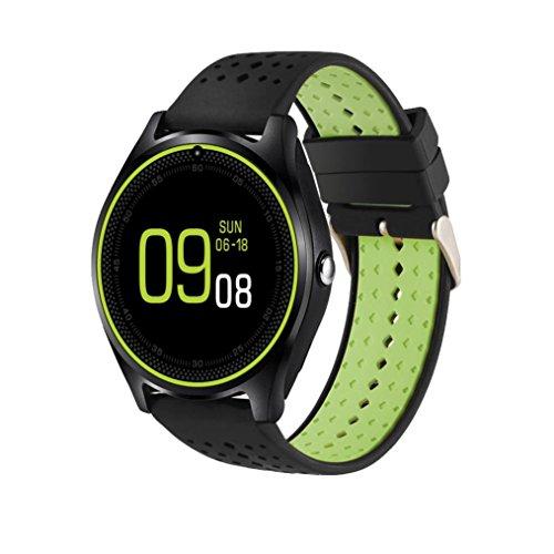 Aurorax Women And Men V9 Bluetooth 4.0 0.3M Camera Wrist Call Smart Band Pedometer Mate Waterproof Sports Activity Smart Watch (black)