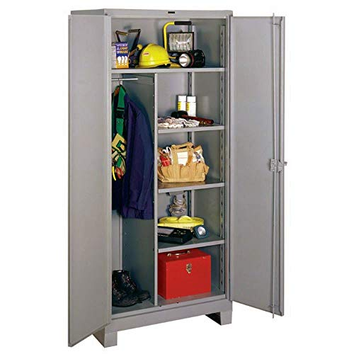 (Lyon DD1148 All Welded Combination Cabinet with 1 Full and 4 Half Width Shelves, 48