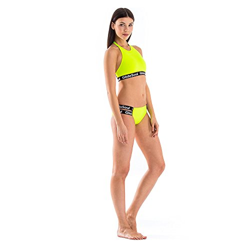 GlideSoul Signature Collection Low Parte de Abajo de Bikini, Mujer Lemon