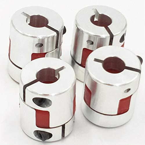 Fevas Wholesale 100pcs 5/6/6.35/8/9.5/10/12 D25mm L30mm CNC Flexible Plum Coupling Shaft Coupler D25L30 - (Inner Diameter: 8X10)