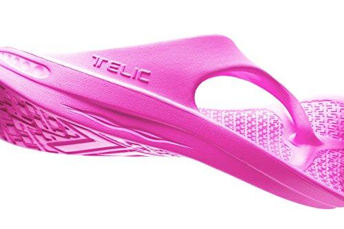 Flip Flop Sandal Skor Från Telic Terox Färgen Rosa Flamingo Olika Storlekar