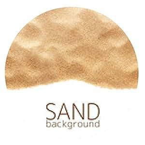 alfombrilla de ratón La dispersión de la arena aislado en el fondo blanco - ronda - 20cm