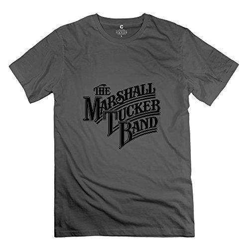 Crystal Men's The Marshall Tucker Band Screw Neck Design T-Shirt DeepHeather US Size XL (Shirt Tucker Marshall Band)