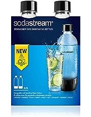SodaStream Tritan flessen, verpakking van 2 stuks van elk 1 liter, vaatwasmachinebestendig, BPA-vrij, reservefles voor SodaStream bruiswatertoestel met PET-flessen