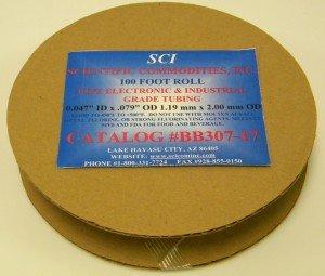 +//- .002 = 1.35mm ID x 2.16mm OD // 100 Roll PTFE Electronic /& Industrial Grade Micro Tubing 16 Guage // 0.053 ID x 0.085 OD