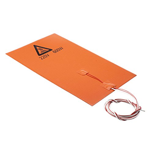 Baosity 220V 600W 200mm x 300mm 3D Printer Silicone Heating Mat Heated Bed Pad