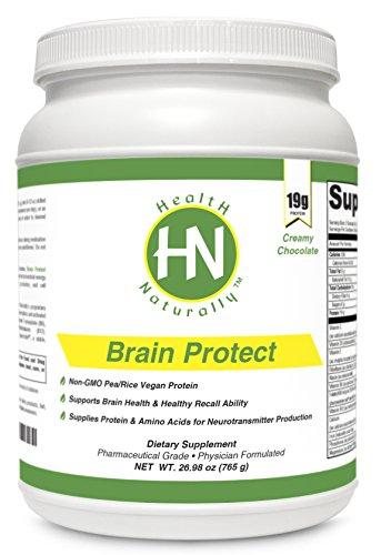 Мозг Защита шоколад - 19g в VegaPro на растительной основе белка с Aminogen® | упакован с мощными мозга Ингредиенты Здоровье: N-ацетил-цистеин (NAC), фосфатидилсерин, ацетил-L-карнитин (ALCAR), альфа-липоевая кислота, коэнзим Q10 (CoQ10), брокколи Экстрак