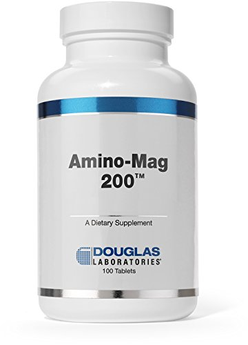 Silica 200 Tabs - Douglas Laboratories® - Amino-Mag 200 - Magnesium Supplement Supports Muscles, Heart, Metabolism, Enzymatic Activity, and Skeletal Strength* - 100 Tablets