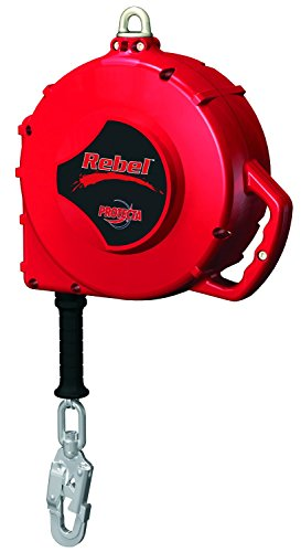 3M Protecta Rebel 3590670 Self Retracting Lifeline, 100' Galvanized Cable, Thermoplastic Housing, Carabiner, 420 lb Capacity, Red by 3M Fall Protection Business (Image #2)