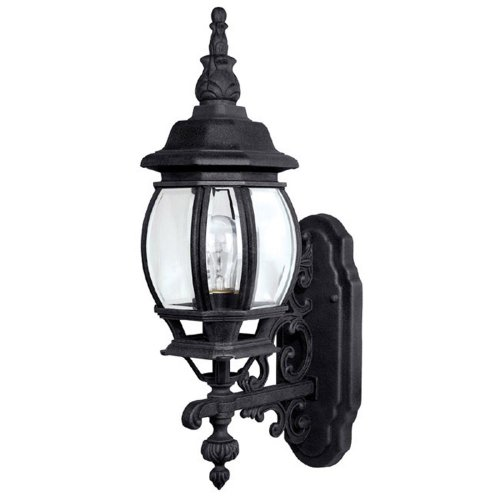 Capital Lighting 9867BK Outdoor Wall Fixture with Clear Glass Shades, Black Finish by Capital Lighting