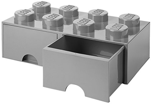 LEGO Brick Drawer 8 Stone Gray 5711938029586