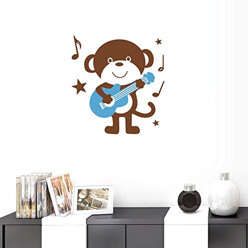 blue and brown wall decals - 8