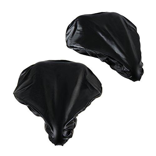 PAMASE [2 Packs] Waterproof Bike Seat Rain Cover Elastic – Rain and Dust Resistant