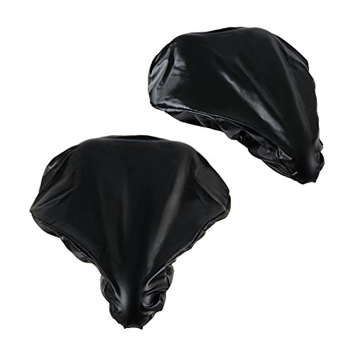 [2 Packs] Waterproof Bike Seat Rain Cover with Elastic – Rain and Dust Resistant